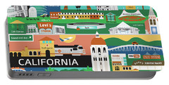 Silicon Valley California Horizontal Scene - Collage Portable Battery Charger