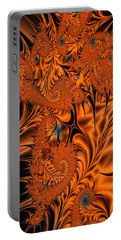 Silk In Orange Portable Battery Charger