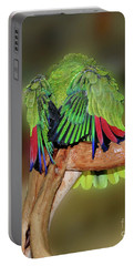 Silly Amazon Parrot Portable Battery Charger by Smilin Eyes  Treasures