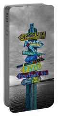 Silly Lily Fishing Station Sign Portable Battery Charger