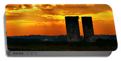 Silos At Sunset Portable Battery Charger