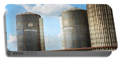 Portable Battery Charger featuring the photograph Silos by Todd Blanchard