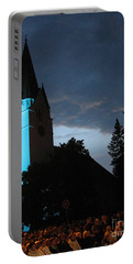 Portable Battery Charger featuring the photograph Silute Lutheran Evangelic Church Lithuania by Ausra Huntington nee Paulauskaite
