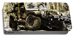 Silver And Gold Jeep Wrangler Jku Portable Battery Charger