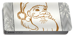 Silver And Gold Santa Portable Battery Charger