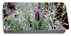 Silver Anouk Lavender In Bloom Portable Battery Charger by Allan Levin