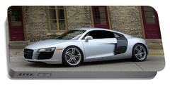 Silver Audi R8 Portable Battery Charger by Joel Witmeyer