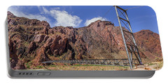 Silver Bridge Over Colorado River - At The Bright Angel Trail Portable Battery Charger