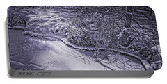 Silver Brook In Winter Portable Battery Charger