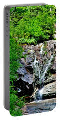 Portable Battery Charger featuring the photograph Silver Cascade by Barbara S Nickerson