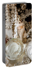 Silver Christmas Portable Battery Charger