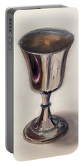 Silver Goblet Portable Battery Charger