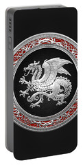 Silver Icelandic Dragon  Portable Battery Charger