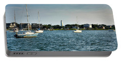 Silver Lake And Ocracoke Island Lighthouse Portable Battery Charger
