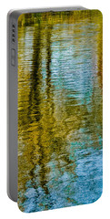 Silver Lake Autum Tree Reflections Portable Battery Charger