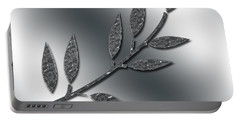 Silver Leaves Abstract Portable Battery Charger
