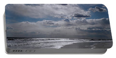 Portable Battery Charger featuring the photograph Silver Linings Trim The Sea by Lynda Lehmann