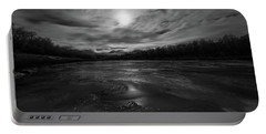 Portable Battery Charger featuring the photograph Silver Midnight by Alex Lapidus