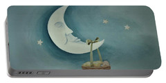 Silver Moon With Picnic Basket Portable Battery Charger