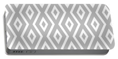 Silver Pattern Portable Battery Charger