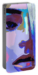 Portable Battery Charger featuring the digital art Silver Queen by Rafael Salazar