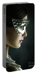 Portable Battery Charger featuring the photograph Silver Spike Beauty Mask by Dimitar Hristov