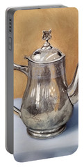 Silver Teapot Portable Battery Charger