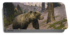 Silver Tip Grizzly Bear - Rocky Mountains, Alberta Portable Battery Charger