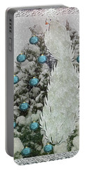 Silver Winter Bird Portable Battery Charger
