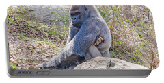 Silverback Gorilla  Portable Battery Charger by Donna Brown