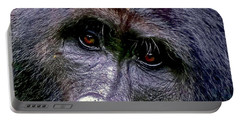 Silverback In The Wild Portable Battery Charger by Michael Cinnamond