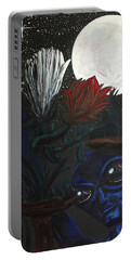 Similar Alien Appreciates Flowers By The Light Of The Full Moon. Portable Battery Charger