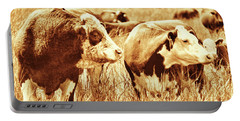 Portable Battery Charger featuring the photograph Simmental Bull 3 by Larry Campbell