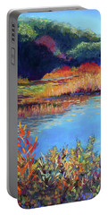 Simpaug Pond In October Portable Battery Charger