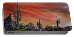 Simple Desert Sunset One Portable Battery Charger