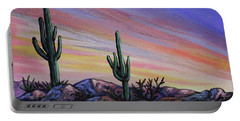 Simple Desert Sunset Three Portable Battery Charger