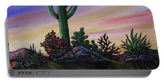 Simple Desert Sunset Two Portable Battery Charger
