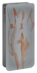 Portable Battery Charger featuring the painting Simple Nude by Beverley Harper Tinsley