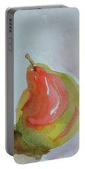 Portable Battery Charger featuring the painting Simple Pear by Beverley Harper Tinsley