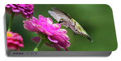 Portable Battery Charger featuring the photograph Simple Pleasure Hummingbird by Christina Rollo