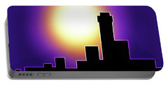 Simple Skyline Silhouette Portable Battery Charger by Yvonne Blasy
