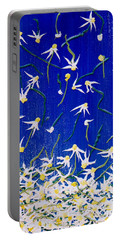Portable Battery Charger featuring the painting Simplicity by Teresa Wegrzyn