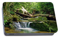Portable Battery Charger featuring the photograph Sims Creek Waterfall by Meta Gatschenberger