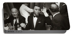 Sinatra And Ed Sullivan At The Eden Roc - Miami - 1964 Portable Battery Charger