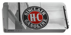 Sinclair Gasoline Round Sign In Selective Color Portable Battery Charger