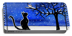 Sing For Me - Black Cat Card Portable Battery Charger