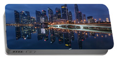 Singapore Skyline Reflection Portable Battery Charger