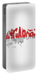 Singapore Typographic Map Flag Portable Battery Charger