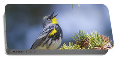 Singing Audubon's Warbler Portable Battery Charger