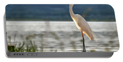 Singing White Egret Portable Battery Charger
